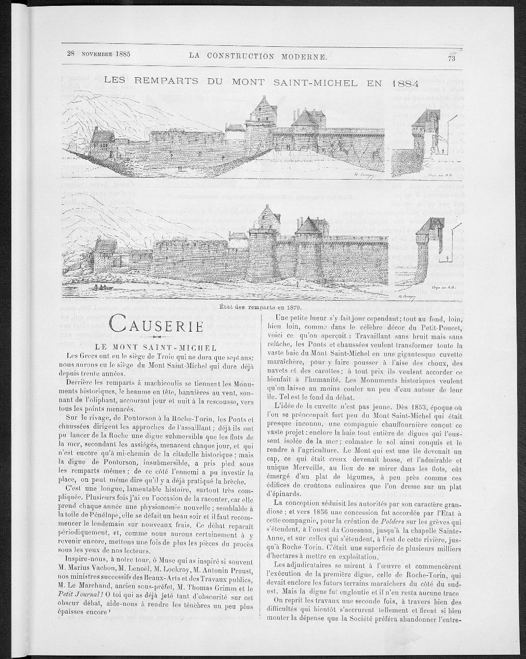 La Construction moderne, no. 7, 1885 |