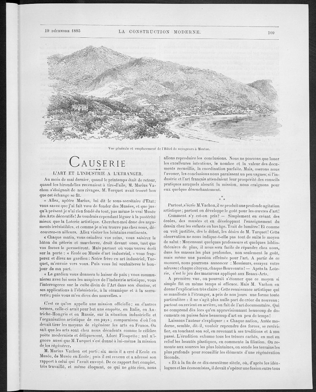 La Construction moderne, no. 10, 1885 |