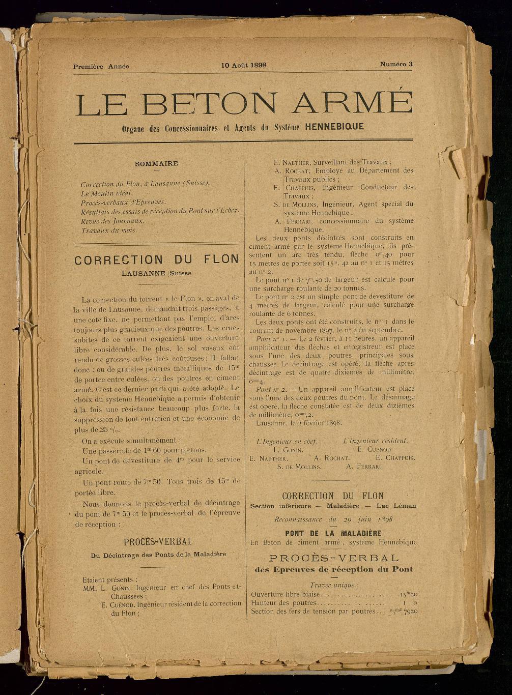 Le Béton armé |