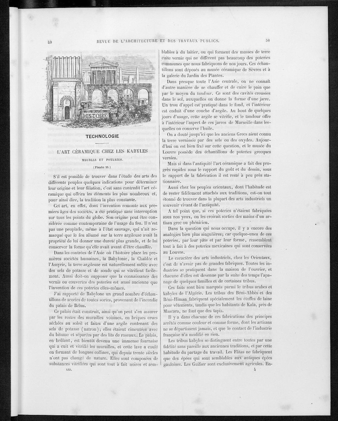 La revue générale de l'architecture, no. 2, 1863 |