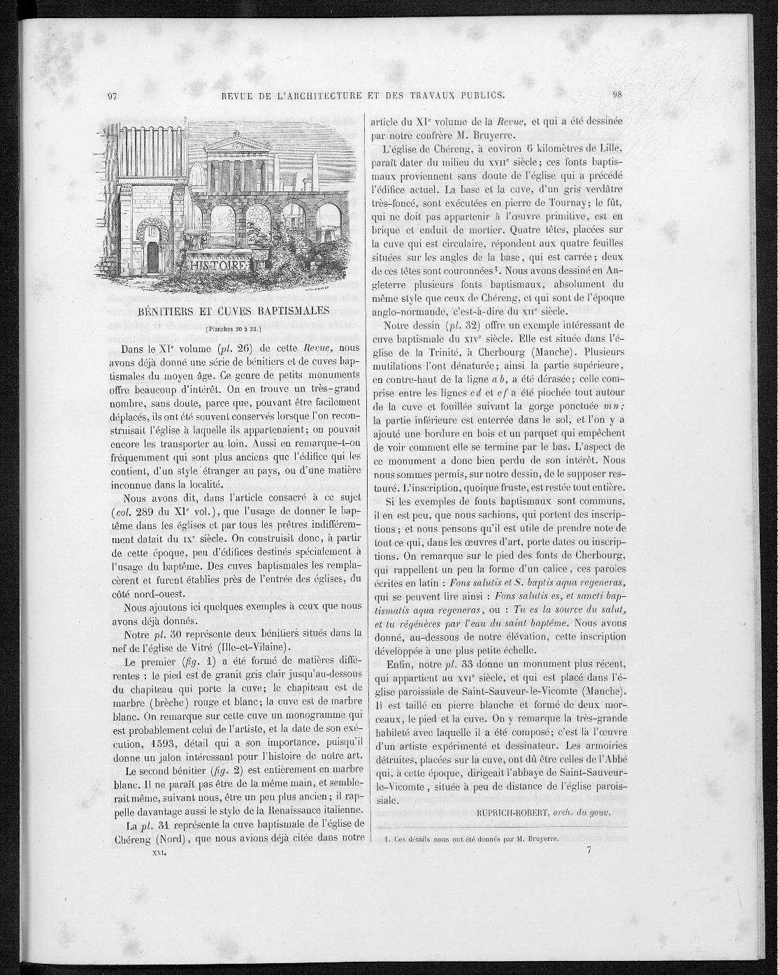La revue générale de l'architecture, no. 1, 1863 |