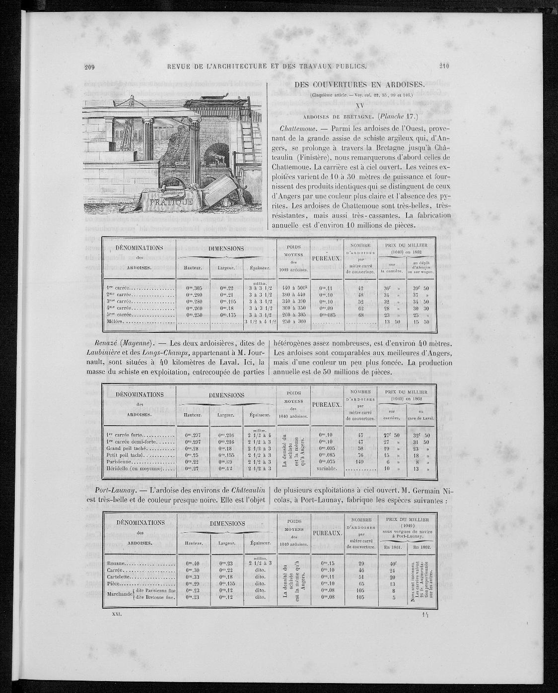 La revue générale de l'architecture, no. 5, 1863 |