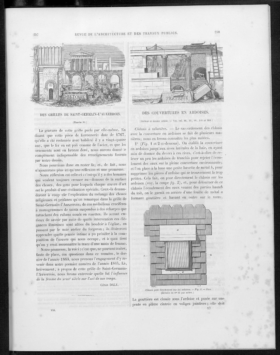 La revue générale de l'architecture, no. 6, 1863 |