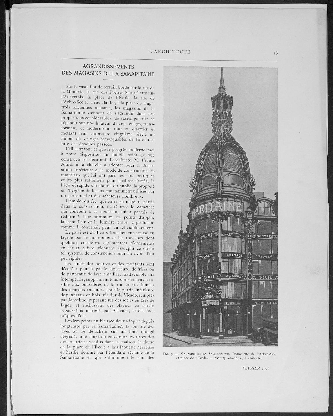 L'Architecte, no. 2, 1907 |