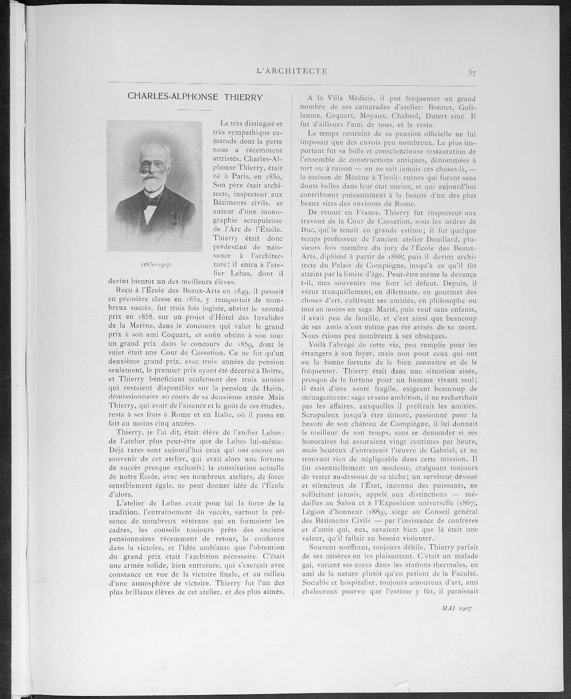 L'Architecte, no. 5, 1907 |