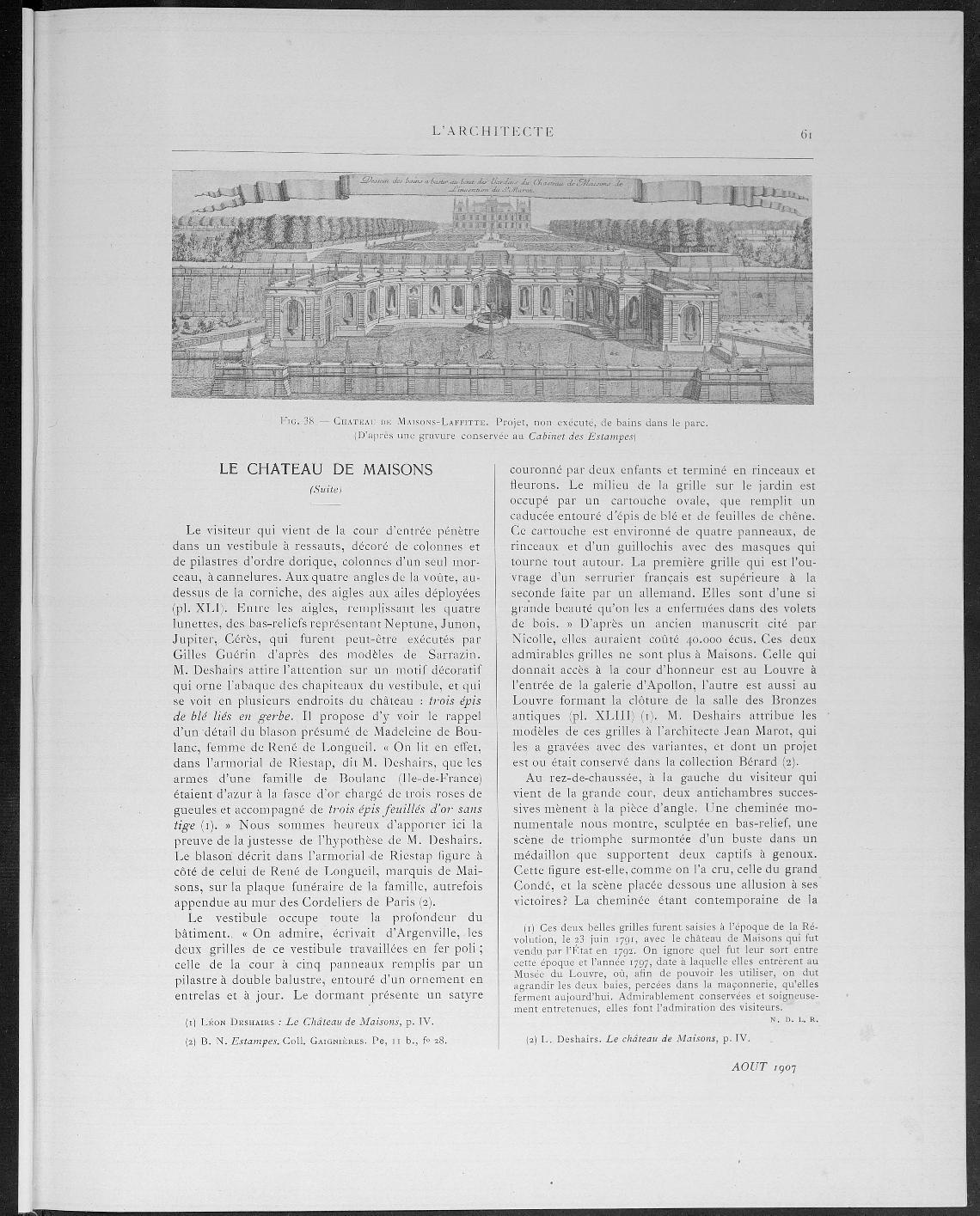 L'Architecte, no. 8, 1907 |