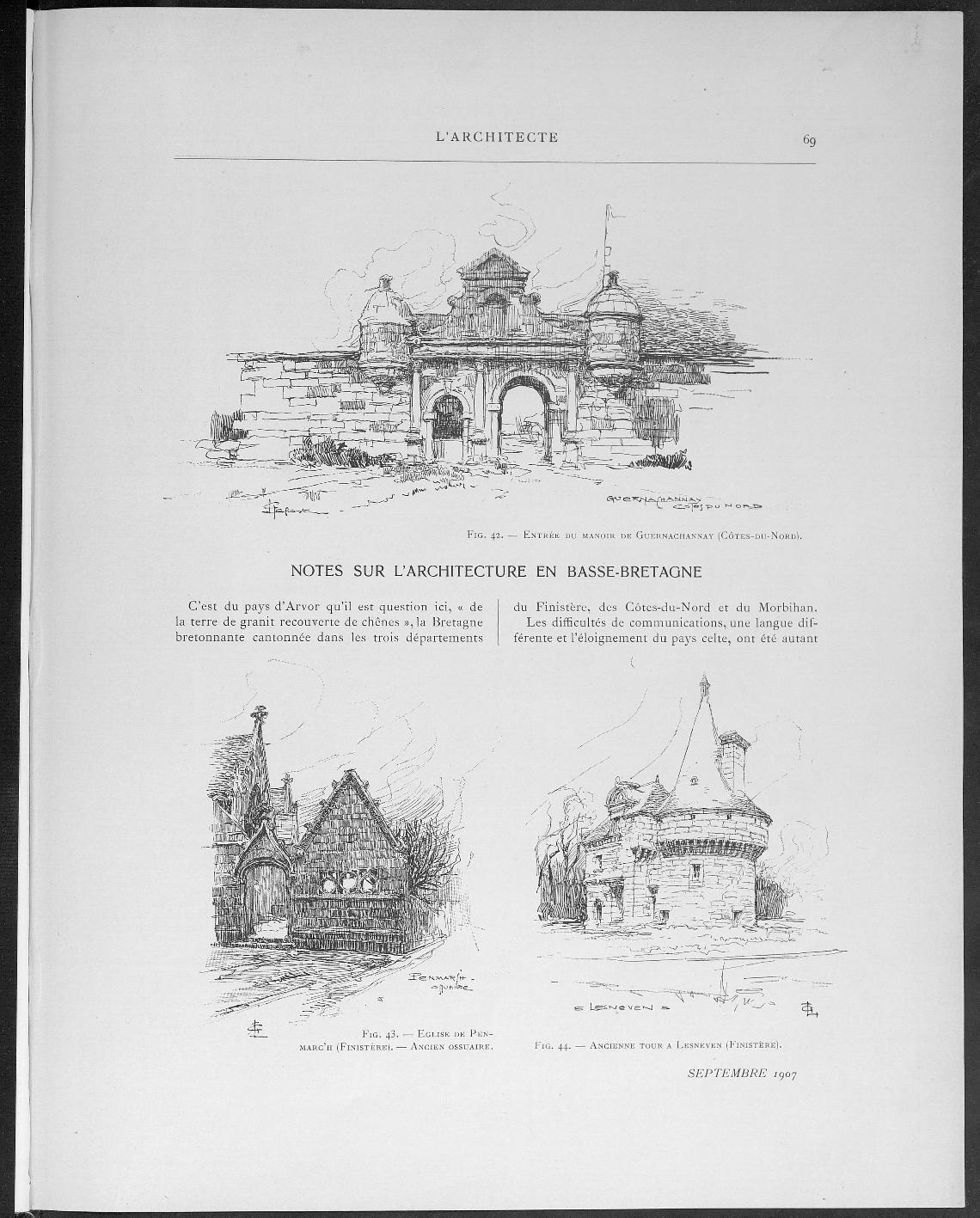 L'Architecte, no. 9, 1907 |