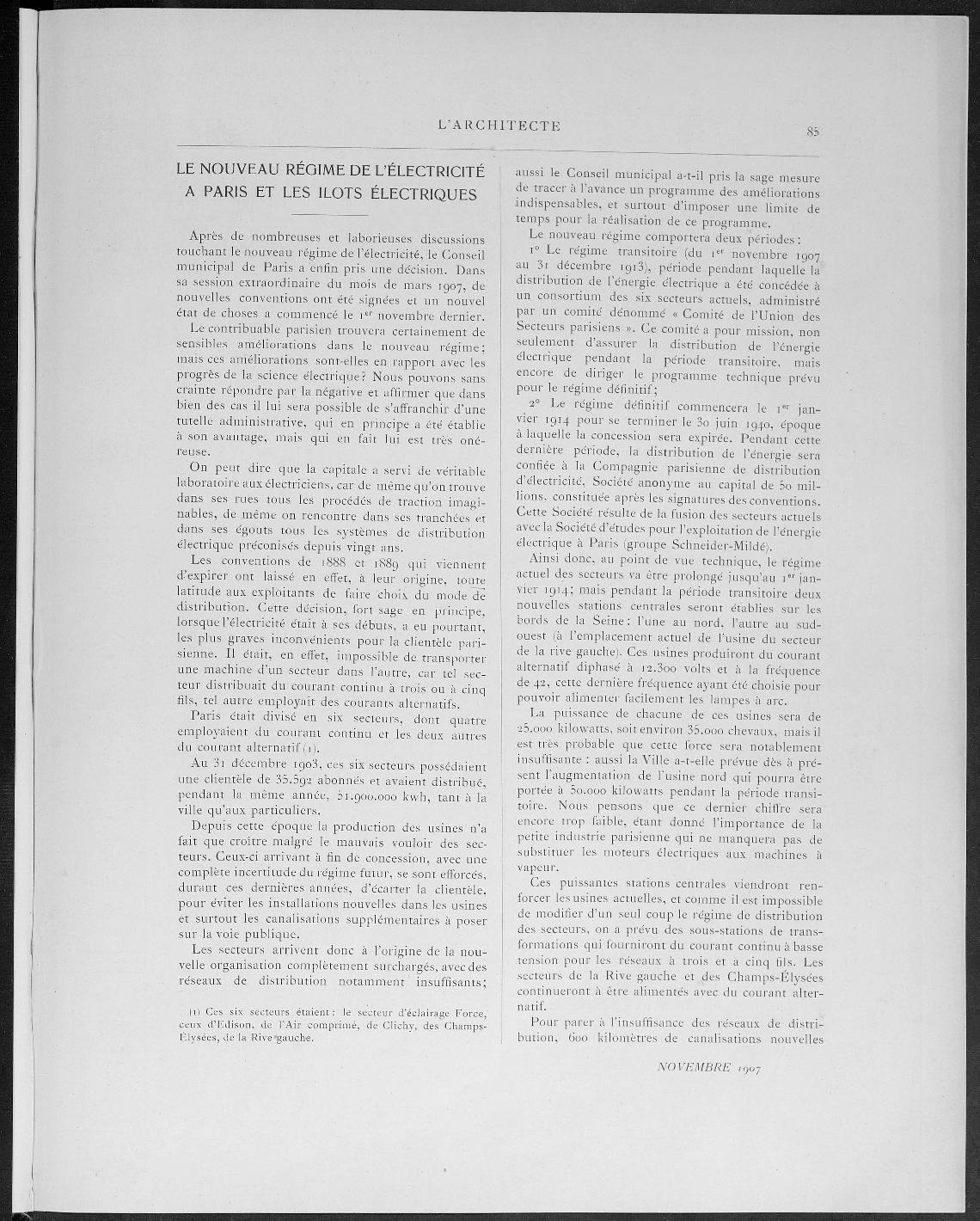 L'Architecte, no. 11, 1907 |