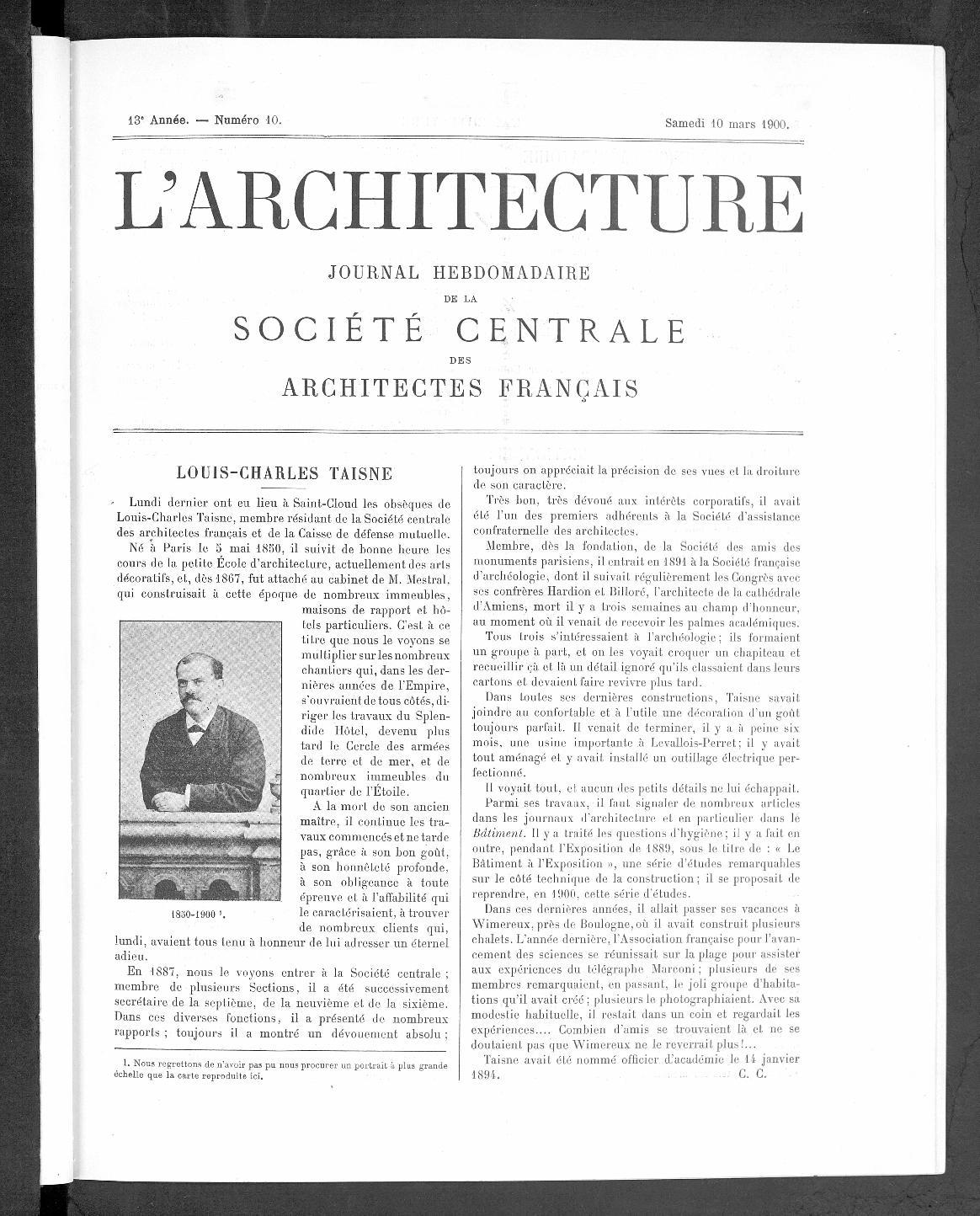 L'ARCHITECTURE |