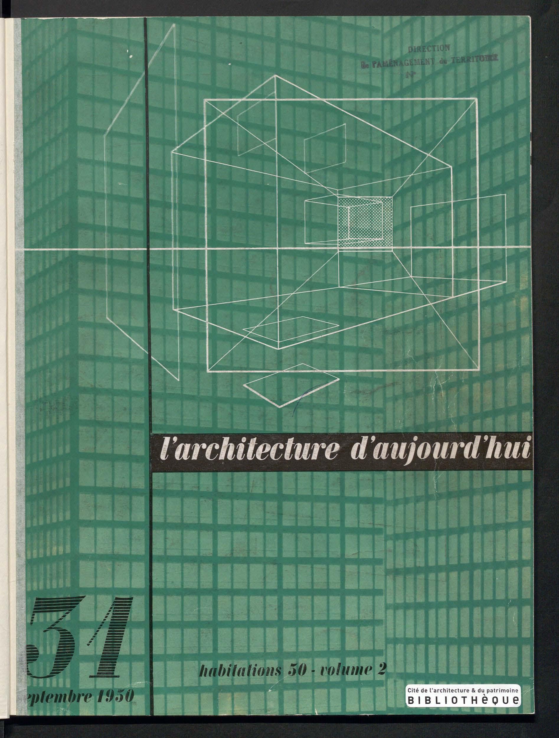 L'Architecture d'aujourd'hui, no. 31, 1950 |